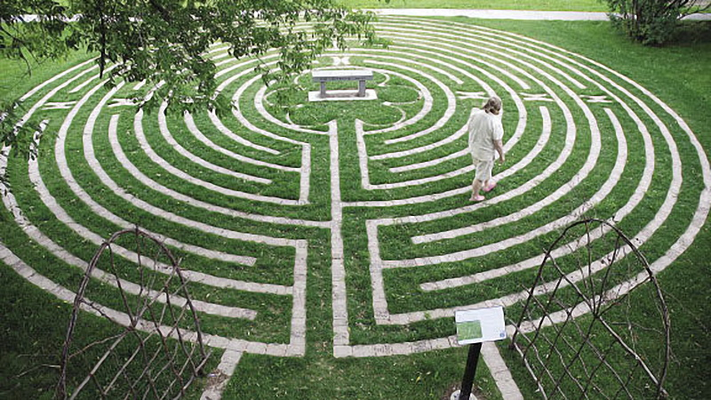 The 50 best campus meditation spaces best counseling schools for Garden labyrinth designs