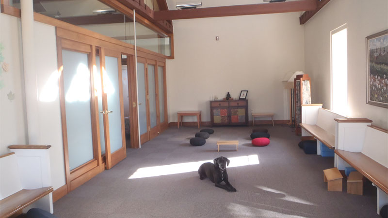 Hamilton College offers several spaces through their center for religion  and spiritual life. One of these spaces is the meditation room.